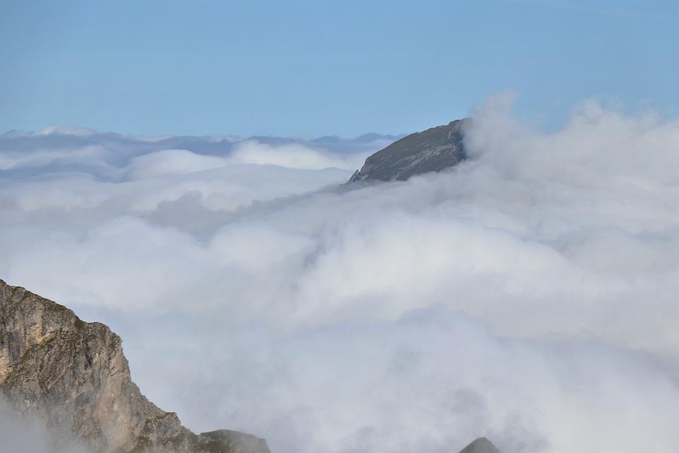 Clouds, Mountains, High Ifen