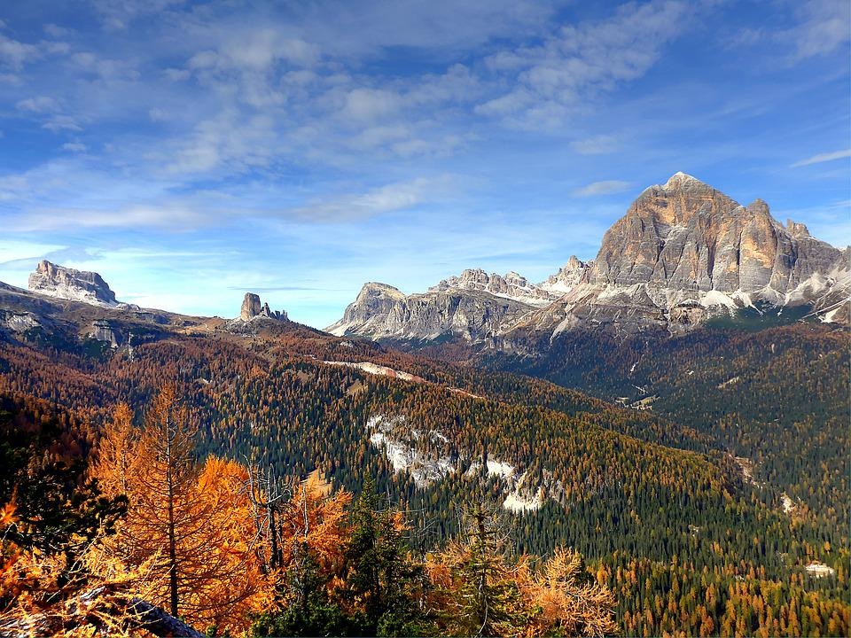 Tofane, Dolomites, Nature, Mountains, Clouds, Rock, Sky