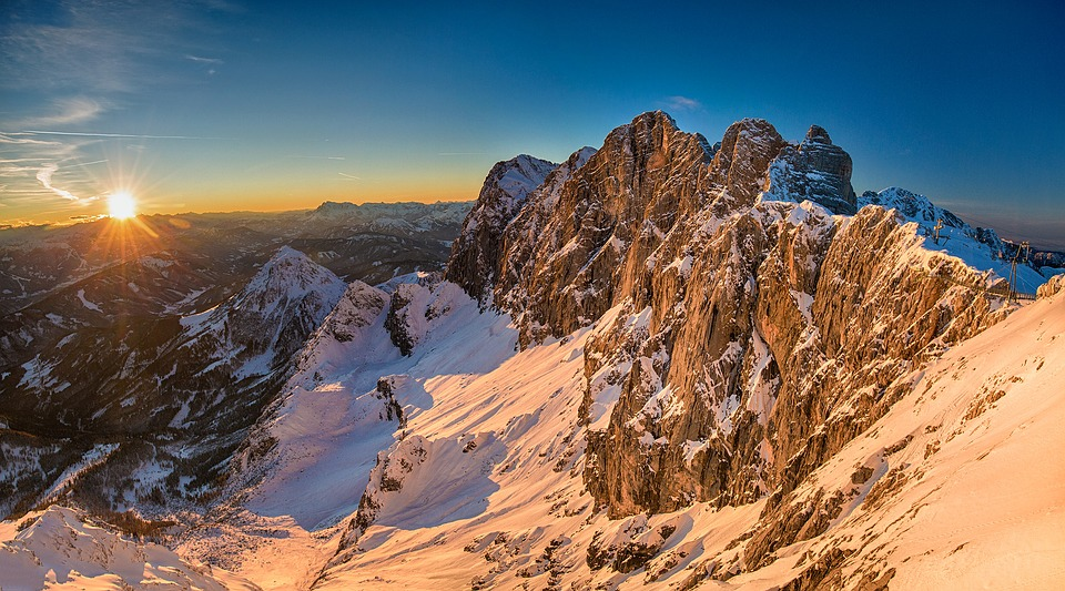Dachstein, Austria, Golden Hour, Alpine, Mountains