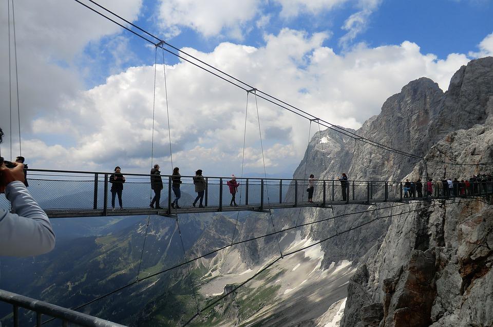 Dachstein-hängebrücke, Treppe-ins-nichts, Mountains