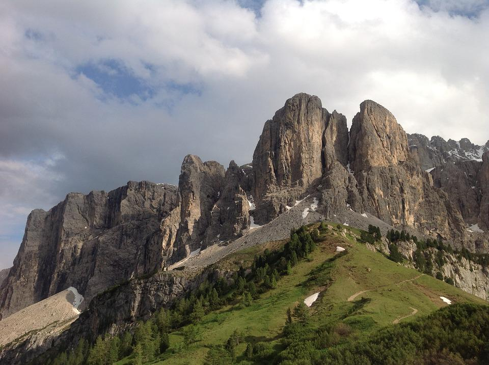 South Tyrol, Mountains, Dolomites, Battlements