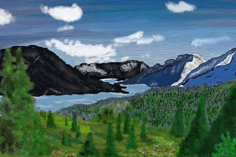 Free Photo Mountains Drawing Fjord Europe Landscape Water