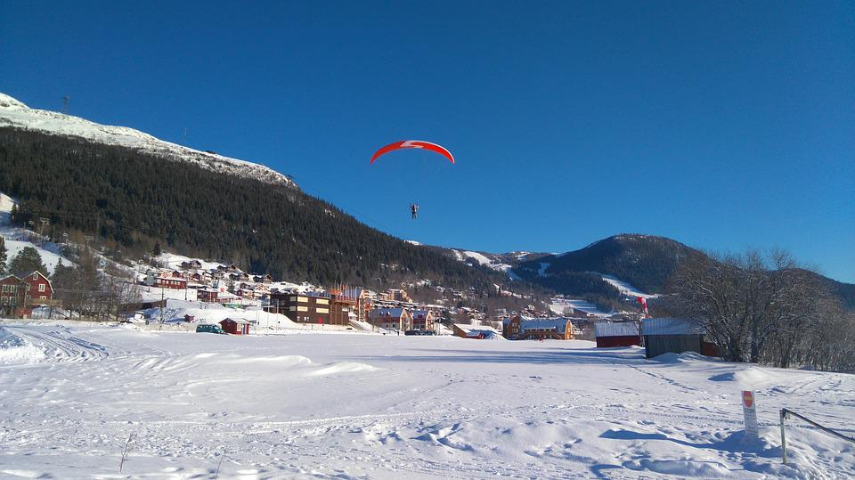 Paragliding, Sweden, Mountains, Air, Airborne, Fly