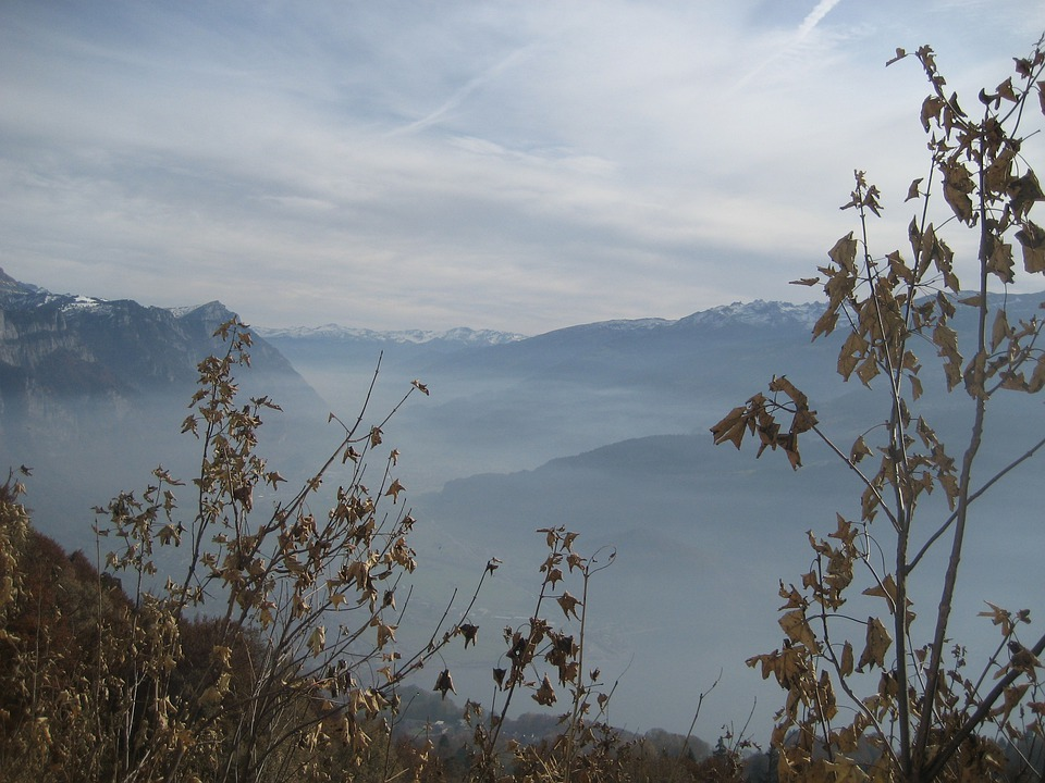 Mountains, Fog, Autumn