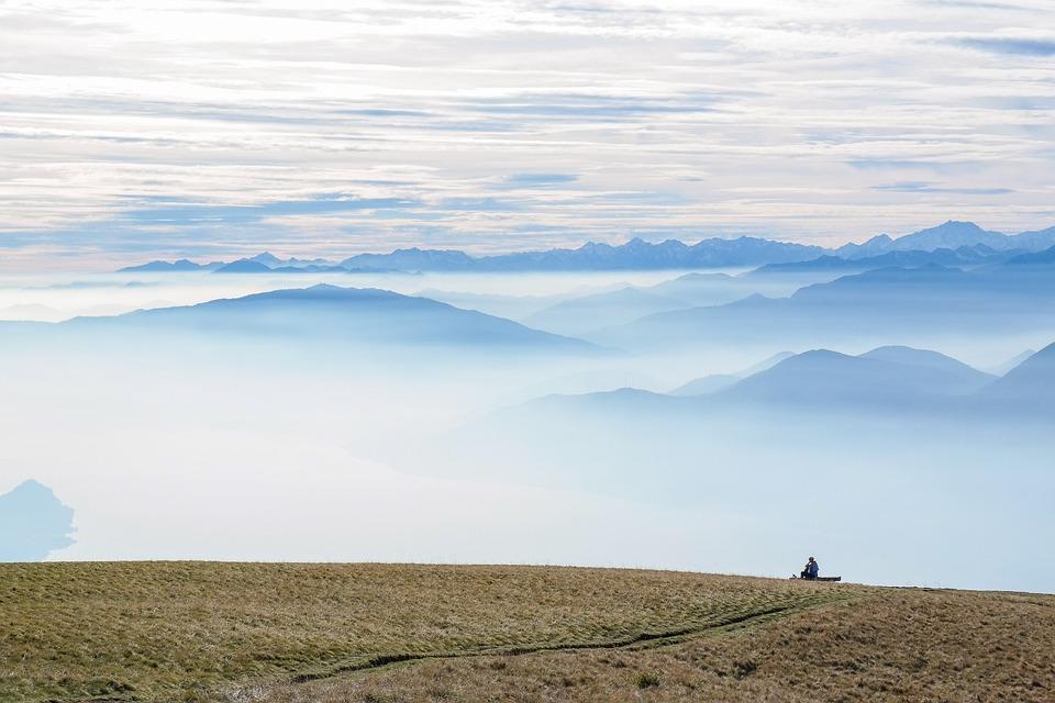 Mountains, Panorama, Summit, Mountain Range, Fog