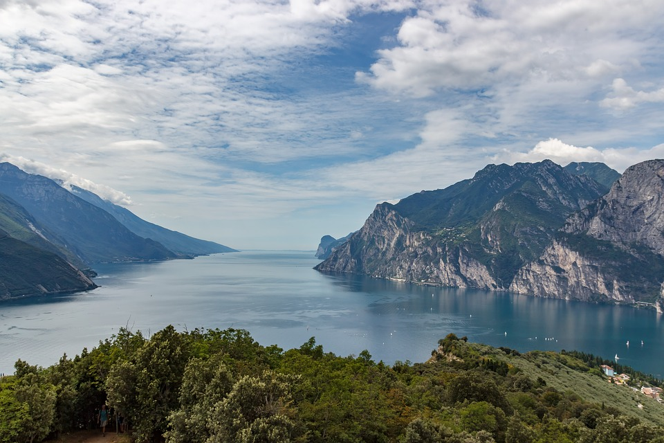 Mountains, Lake, Italy, Garda, View, Vacations