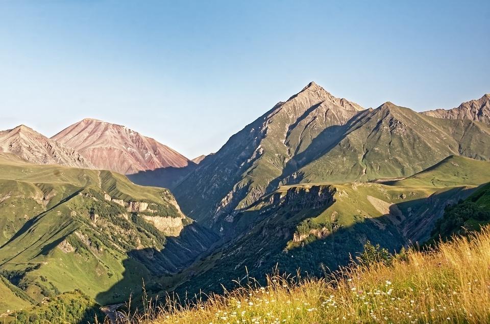Georgia, Great Caucasus, Mountains, Landscape, Nature