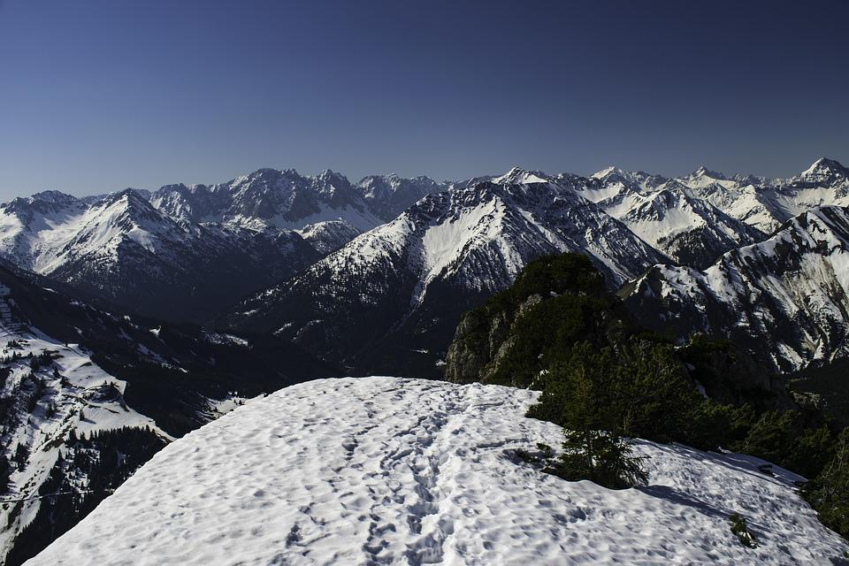 Alps, Mountains, Spring, Snow, The Peaks, Height