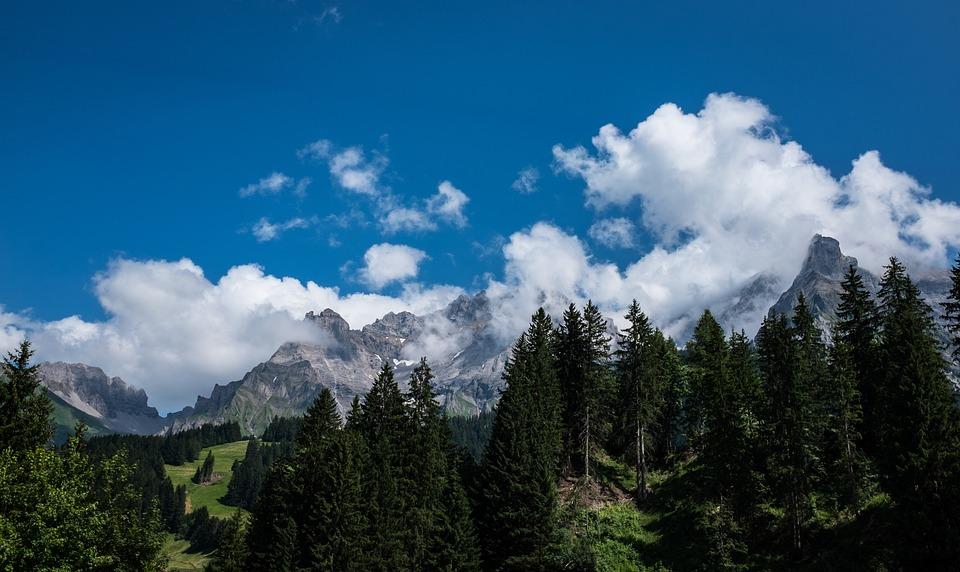 Mountains, Switzerland, Hiking