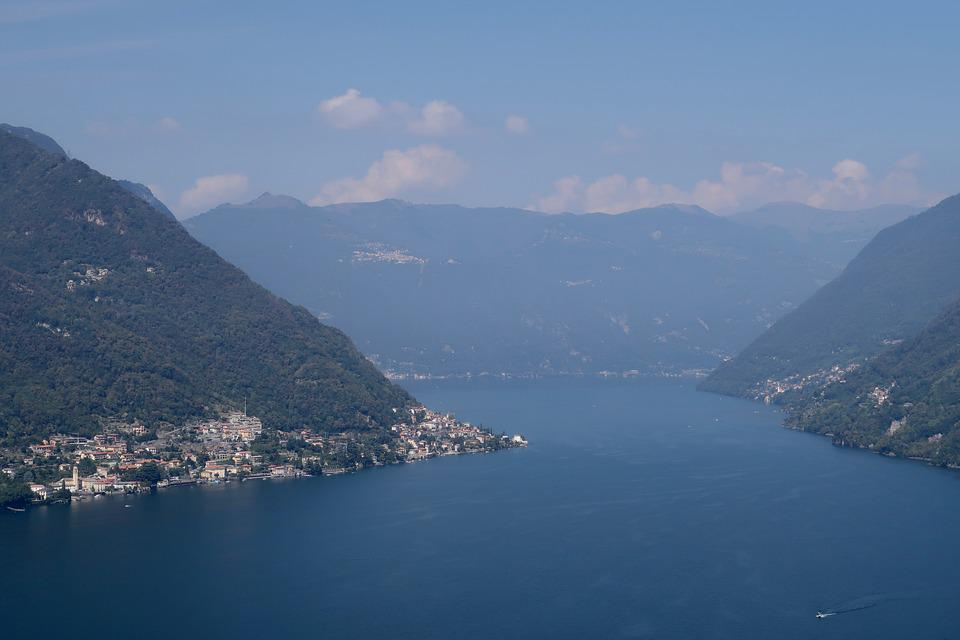 Mountains, Lake, Landscape, Water, Italy, Lombardy