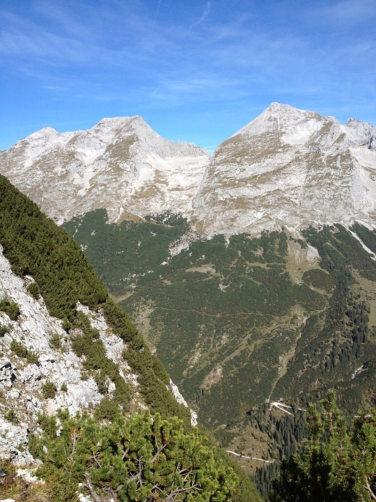 Mountains, Hiking, Karwendel, Trail, Idyll, Panorama