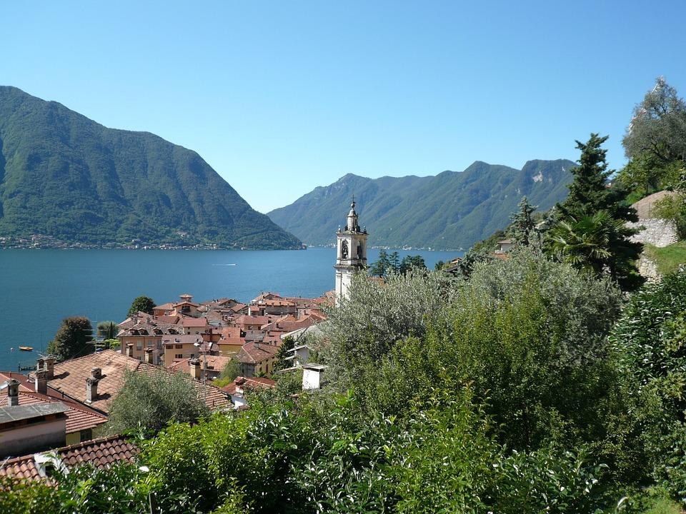 Lake Como, Italy, Mountains, Sala Comacina
