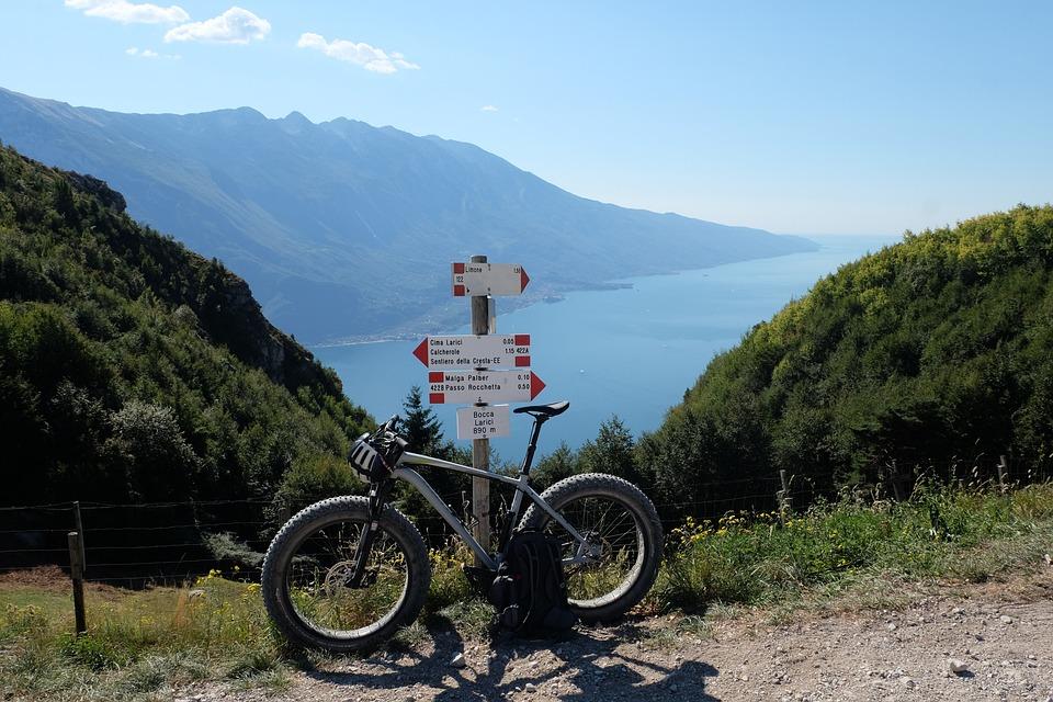 Cycling, Lake, Mountains, Nature, Leisure, Garda