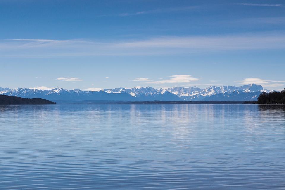 Mountains, Lake, Landscape, Bavaria, Starnberger See