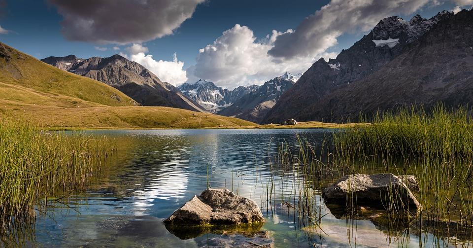 Lake, Mountains, Nature, Mountain Range, Summit, Peak