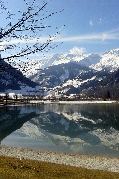 High Tauern, Lake, Mountains, Uttendorf, Badesee