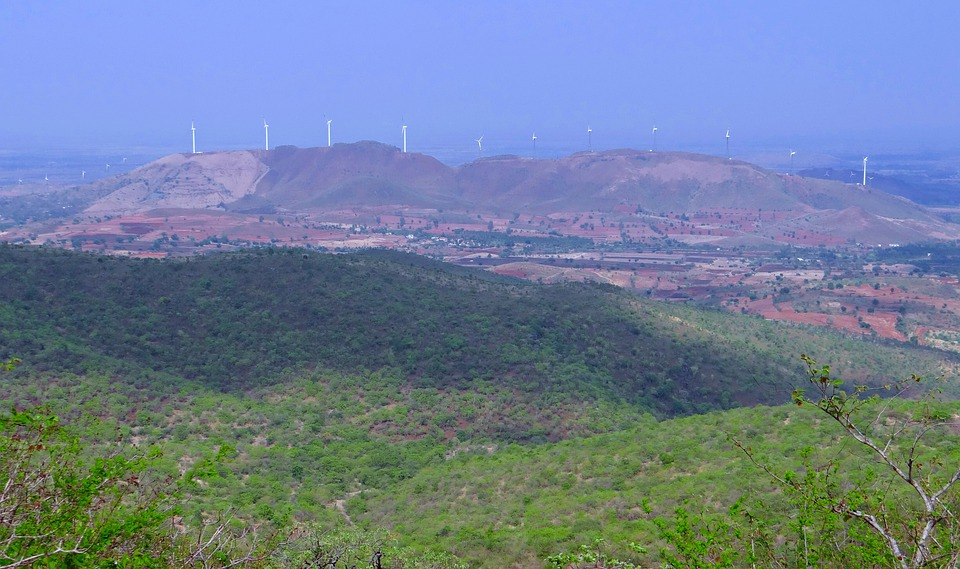 Chitradurga Hills, Landscape, Mountains, Valley