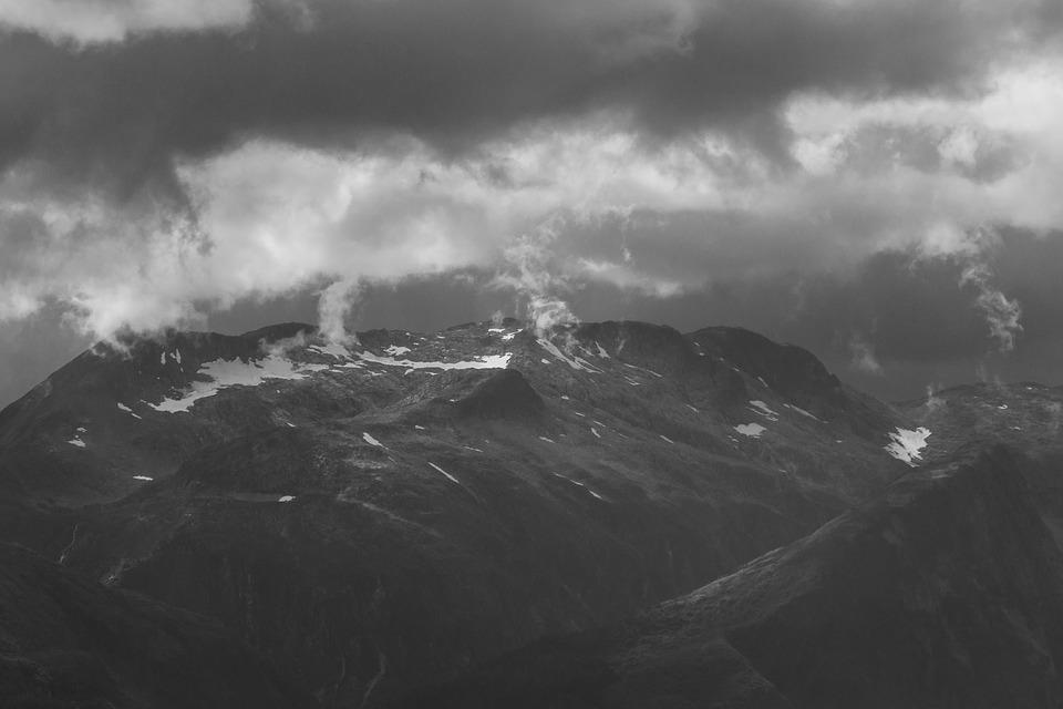Mountain, Clouds, Sky, Landscape, Mountains, Nature
