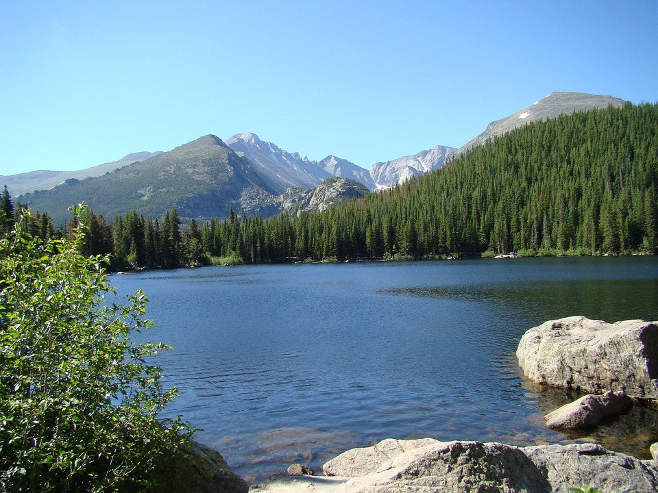 Bear Lake, Colorado, Mountains, Lakes, Water, Landscape