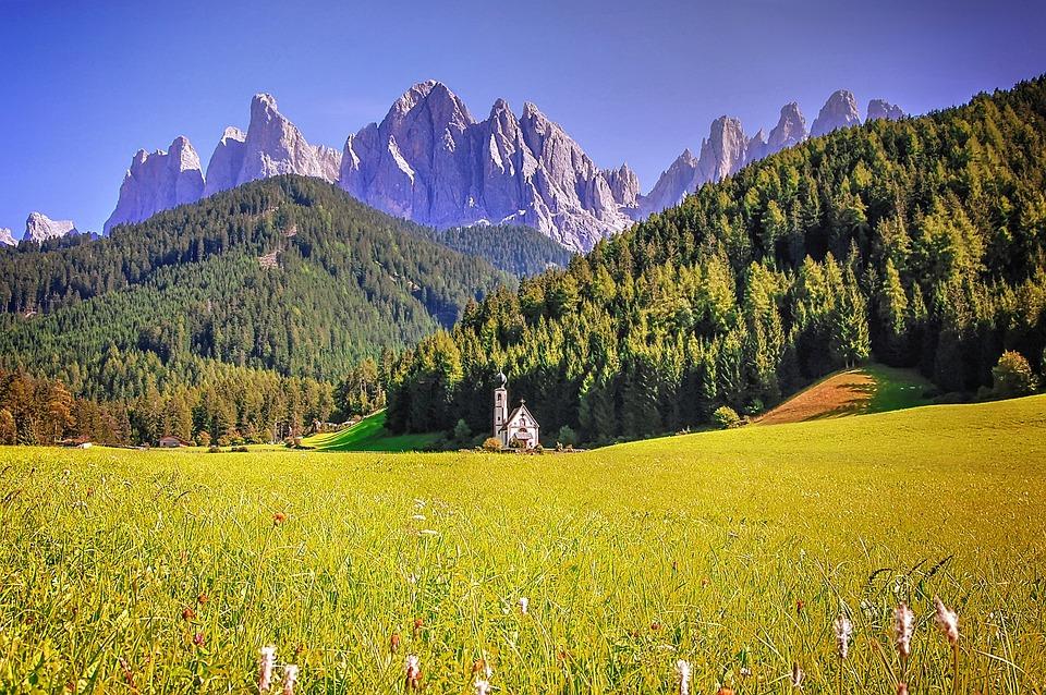 Funes, Dolomites, Italy, Mountains, Nature, Landscape