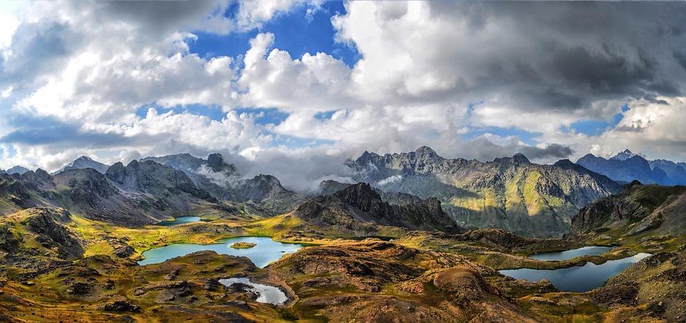 Nature, Landscape, Kaçkars, Mountains, Lakes, Grassland
