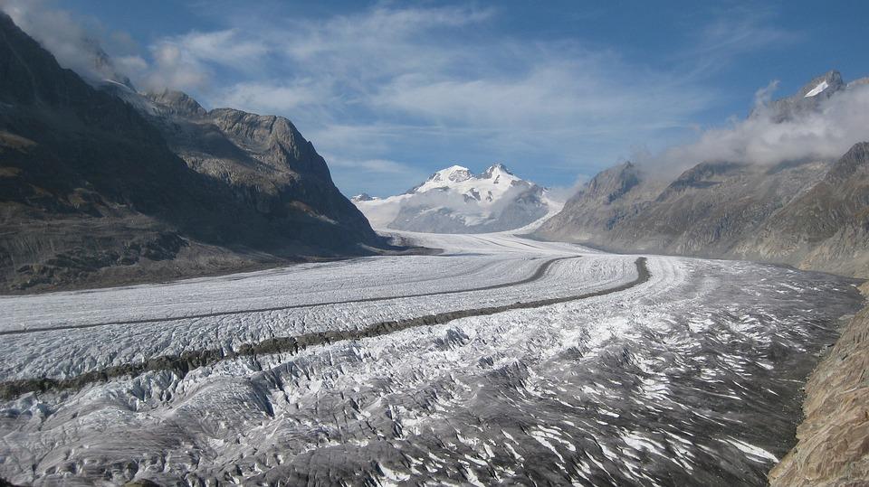 Nature, Landscape, Glacier, Mountains, Switzerland