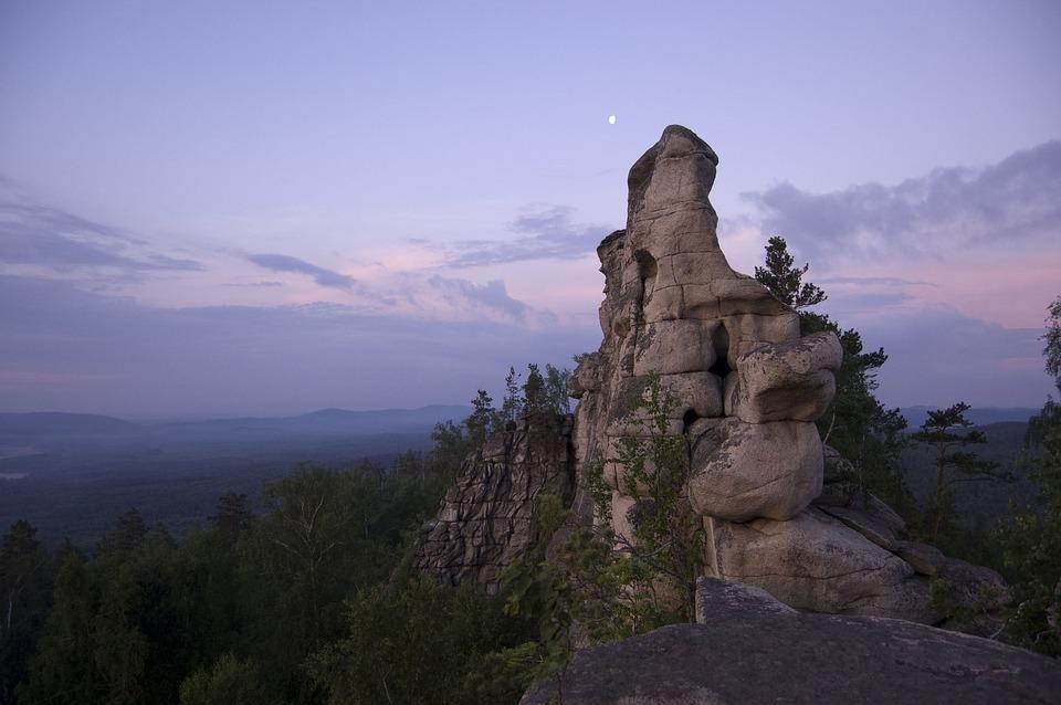 Sky, Rocks, Mountains, Landscape
