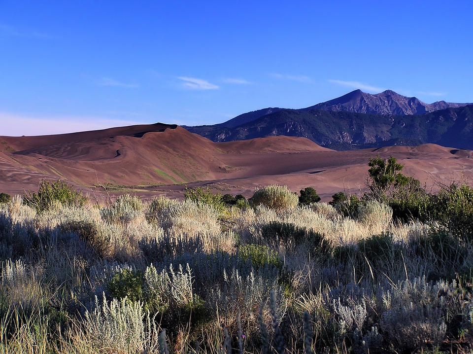 Colorado, Landscape, Scenic, Sand Dunes, Mountains