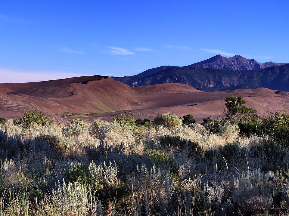 Colorado, Landscape, Scenic, Sand Dunes, Mountains