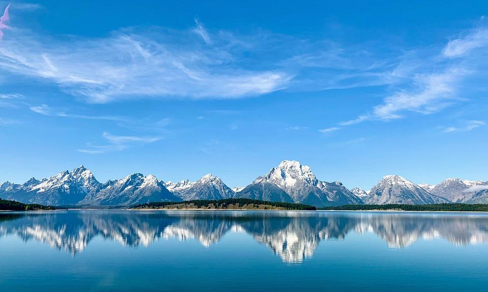 Wyoming, Grand Teton, Teton, Landscape, Mountains