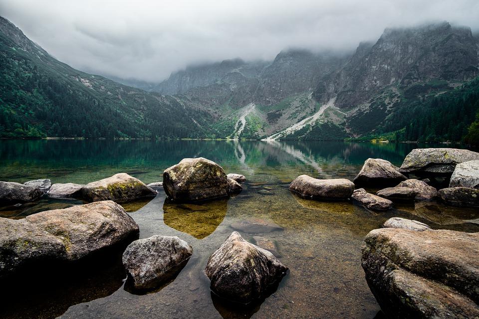 Mountains, Lake, Landscape, Nature, The Stones
