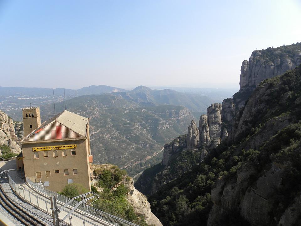 Monserrat, Station, Mountains, Europe, Architecture