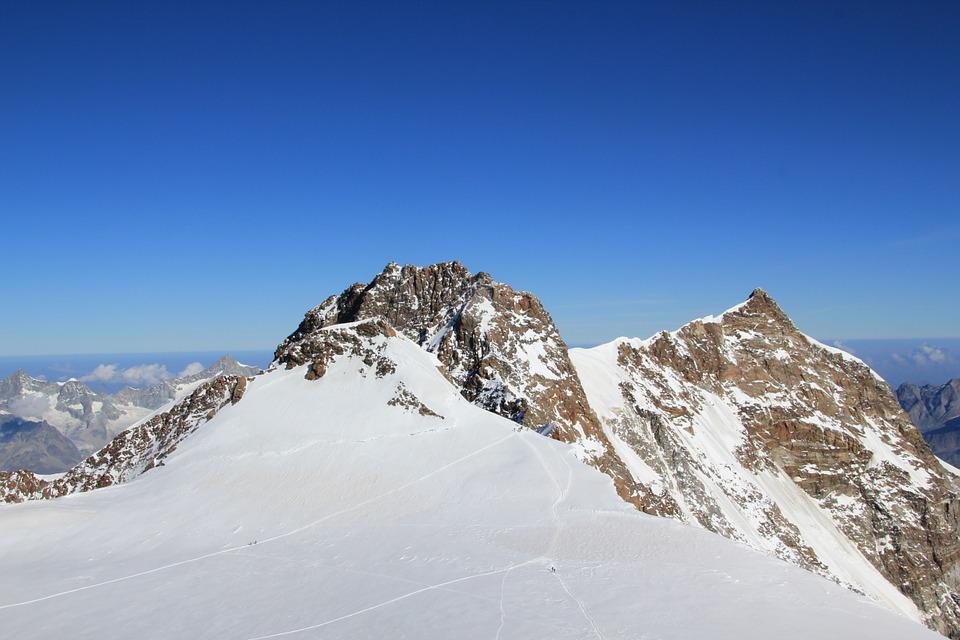 Mountains, Snow, Landscape, Monte Rosa