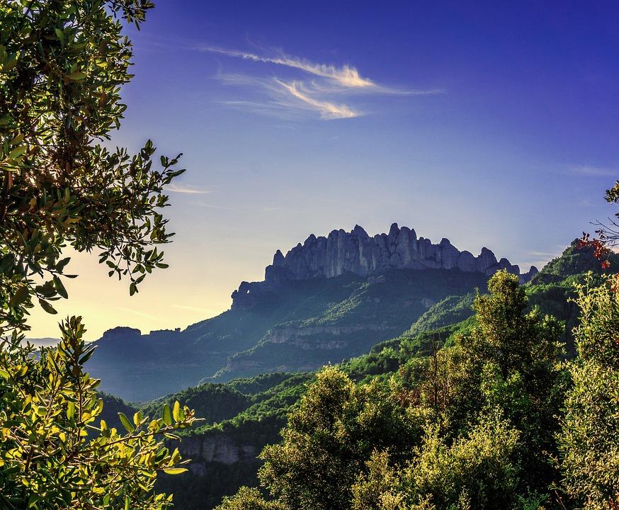 Montserrat, Landscape, Nature, Mountains, Sky, Forest