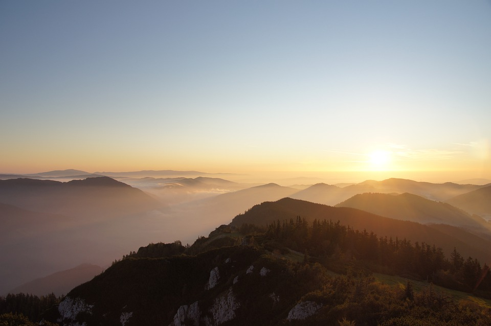 Hochlantsch, Mountain, Sea Of Fog, Sunrise, Mountains