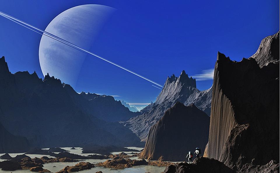 Saturn, Landscape, Mountains, Mountainous, Gorge