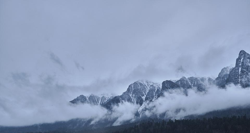 Clouds, Mountains, Busteni, Dawn, Storm, Nature, Sky