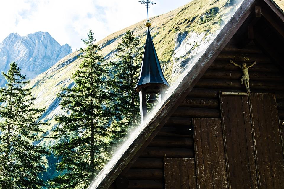 Wooden Church, Mountains, Nature, Church