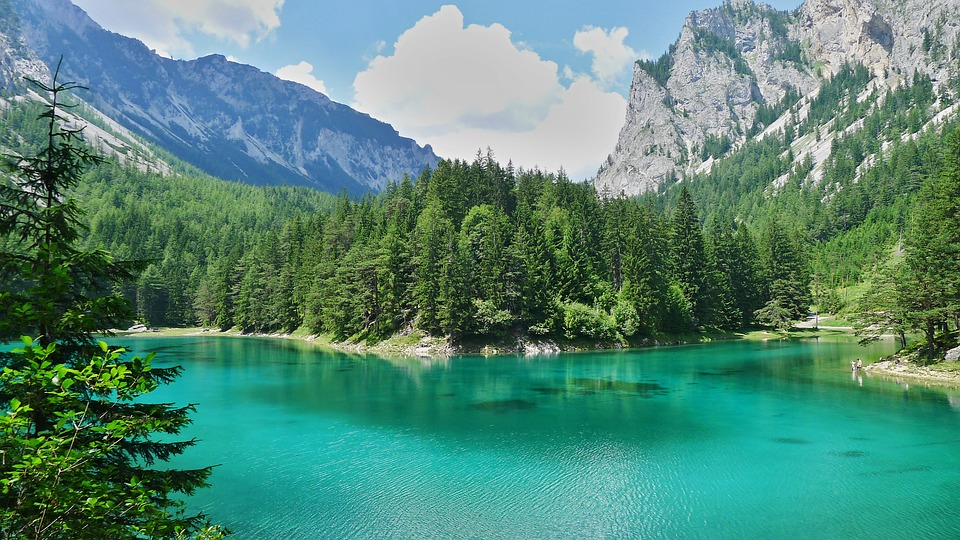 Lake, Water, Mountains, Green Lake, Landscape, Nature