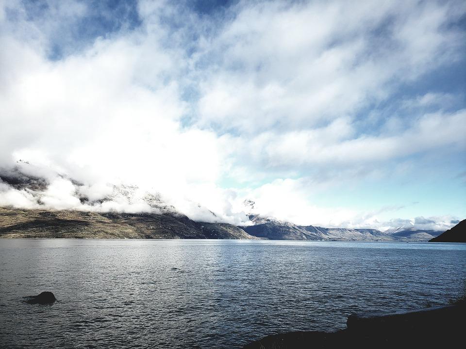 Lake, New Zealand, Nature, Mountains, Outdoors