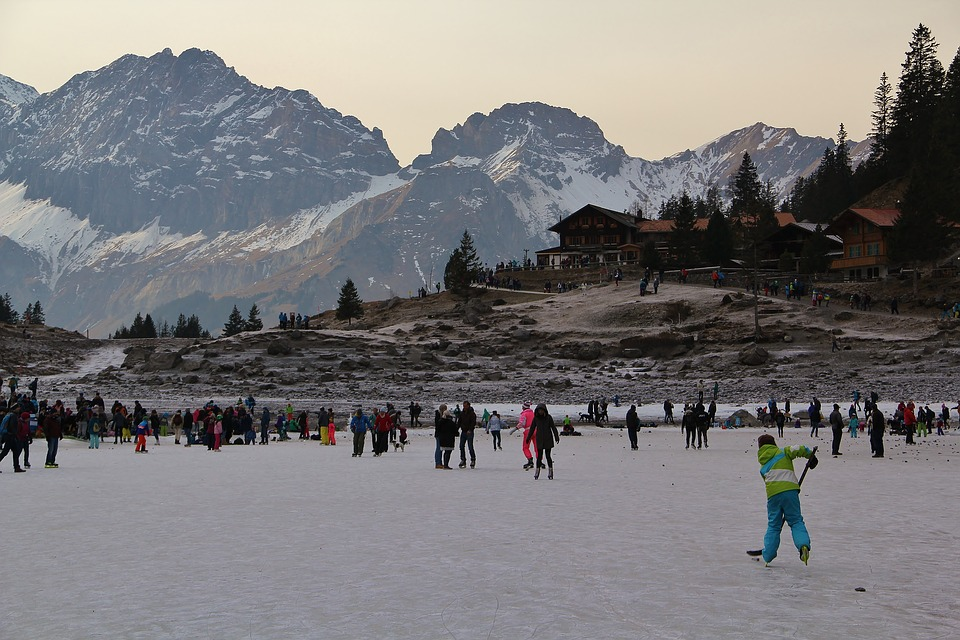 Lake Oeschinen, Switzerland, Nature, Mountains