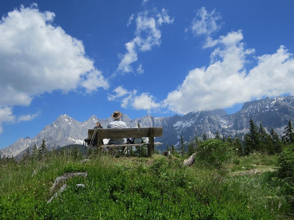 Mountains, Landscape, Nature, View, Bank