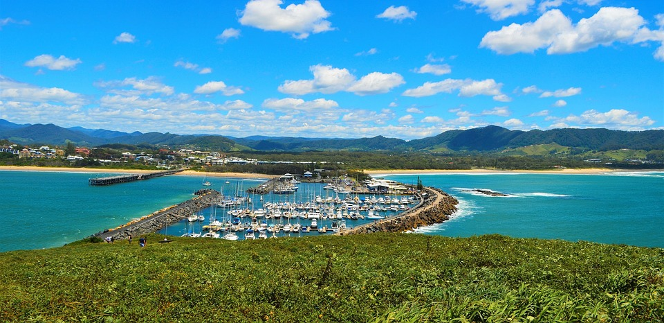 Sea, Ocean, Summer, Mountains, Landscape, Australia