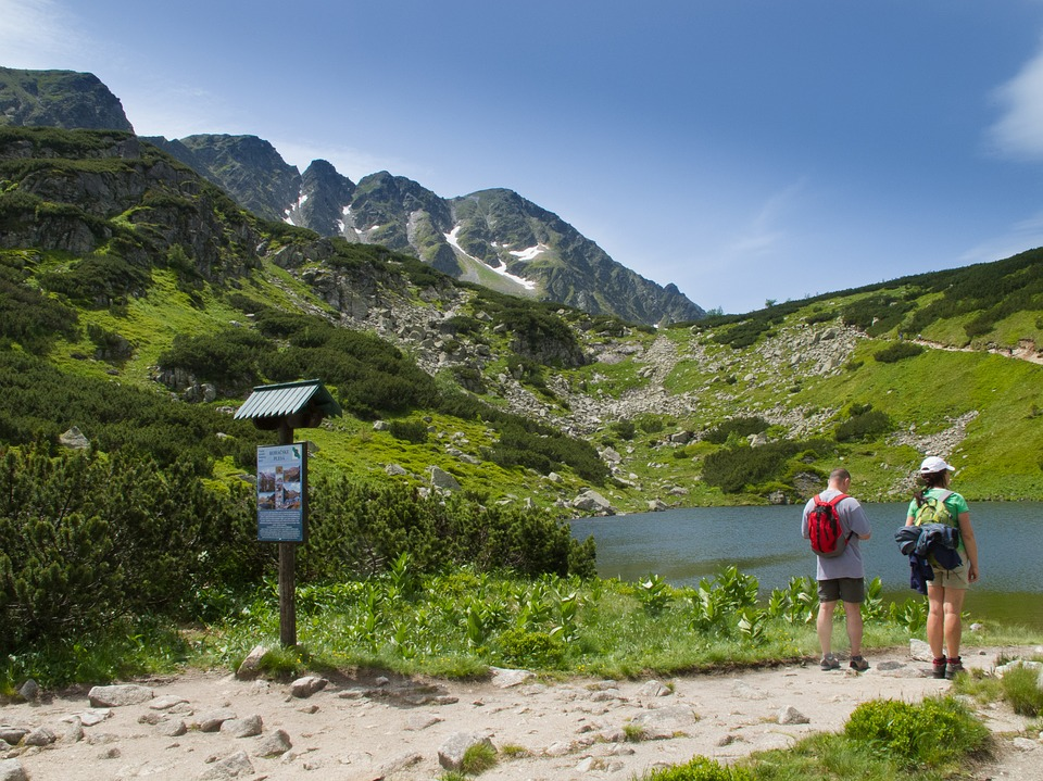 Roháče, Pleso, Tourists, Country, Mountains, Summer