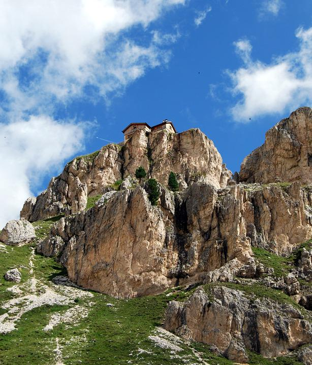 Dolomites, Deadbolt, Mountains, Italy, Refuge, Sky