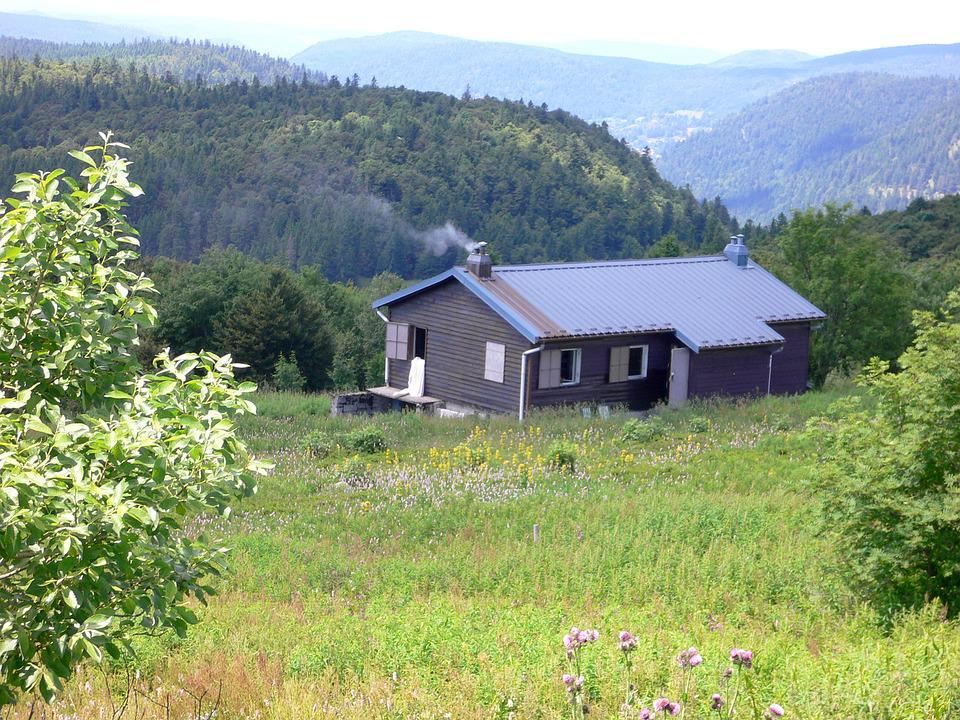 Mountain Hut, Mountains, Valleys, Trees, Reported