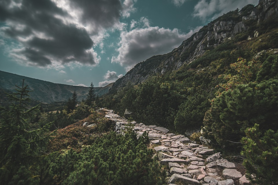 Way, Mountains, Road, Landscape, Sky, The Stage