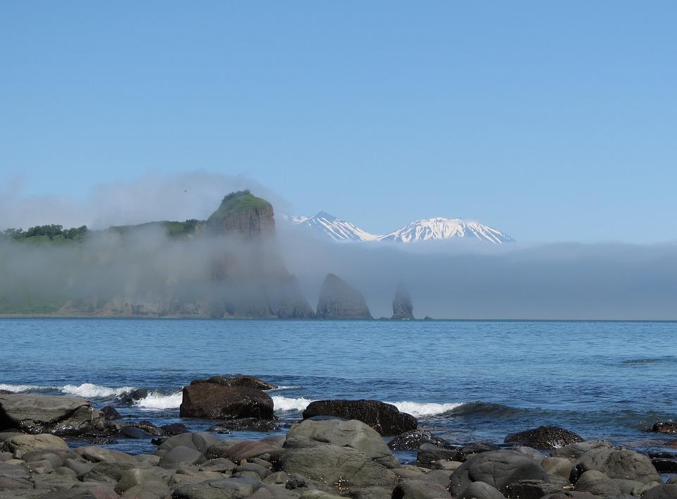 Ocean, Beach, Coast, Cape, Mountains, Rocks, Seascape