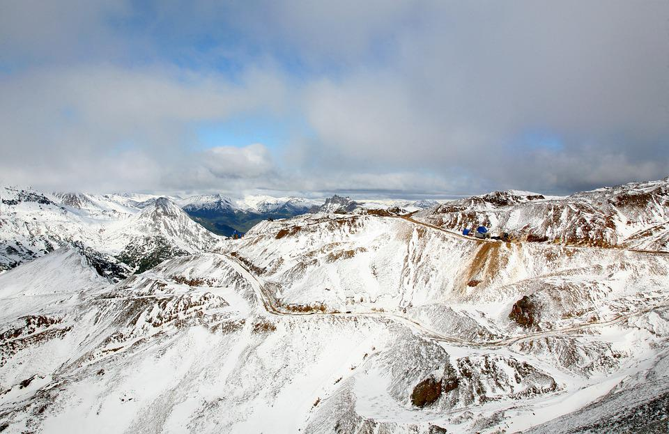 Mountains, Height, The First Snow, Rocks, Bad Weather
