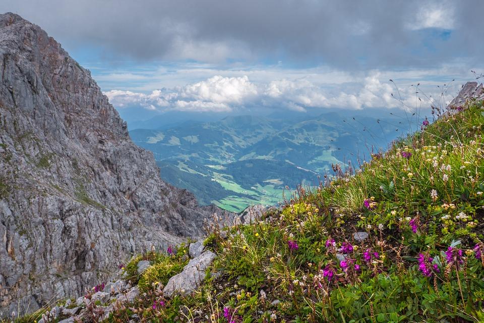 Landscape, Mountains, Meadow, Sky, Salzburger Land